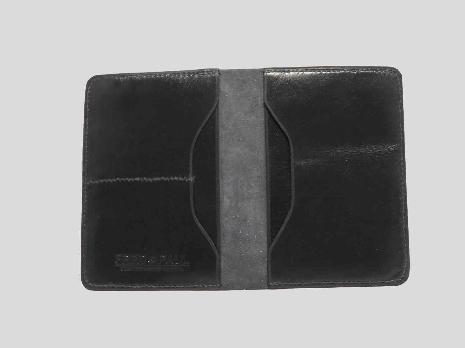 BALI protège passeport en cuir de veau bleu
