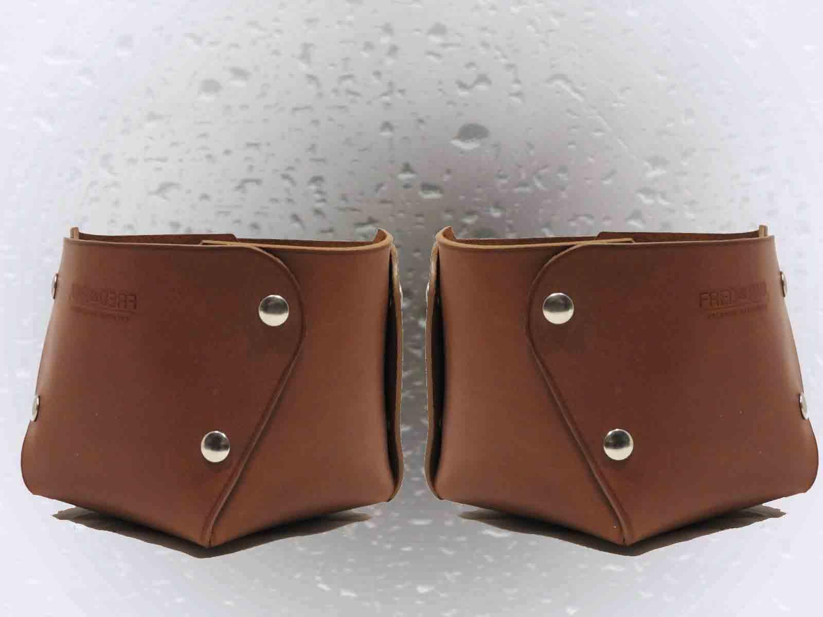 MARTABAN,  vide poches grand modèle en cuir de veau lisse cacao