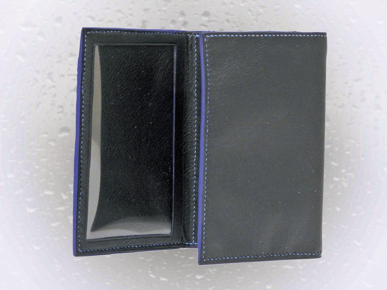 KATTEGAT, portefeuilles en cuir de veau noir