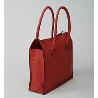 MANASLU  sac cabas en cuir d'agneau corail porté main ou épaule