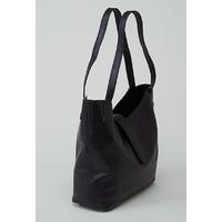 CHANGTSE sac en cuir de veau bleu nacré porté main ou épaule