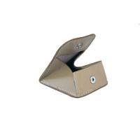AGARTALA mini porte monnaie en cuir de veau argile