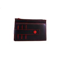 TRIPURA porte monnaie - cartes en cuir de veau sweet noir