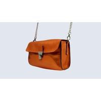 JAÏPUR sac porté épaule ou croisé en cuir de veau orange nacré