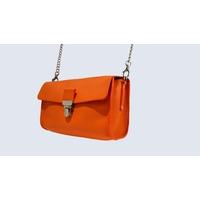 JAÏPUR sac porté épaule ou croisé en cuir de veau orange