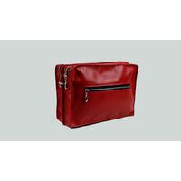 MALACCA sac porté épaule ou croisé en cuir de veau rouge