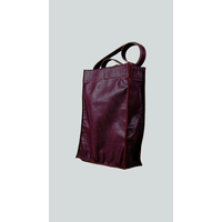 KAMET 2.0 sac shopping en cuir de veau foulonné prune
