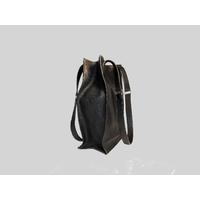 KAMET 3.0 sac shopping en cuir de veau façon reptile noir