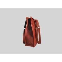 KAMET 3.0 sac shopping en cuir de veau façon reptile rouge