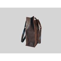 KAMET 3.0 sac shopping en cuir de veau façon reptile bordeaux