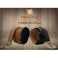 SHILLONG, ceinture réversible noir & fauve