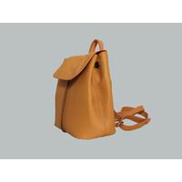 FUNDY sac à dos en cuir de veau orange