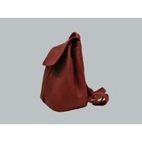 FUNDY sac à dos en cuir de veau rouge