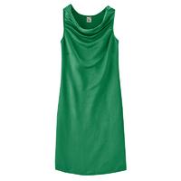 """Robe bi-matière """"Victoria"""" - chanvre, coton bio et soie"""