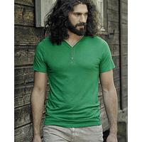 """T-shirt col V boutonné """"Kurt"""" - chanvre et coton bio"""