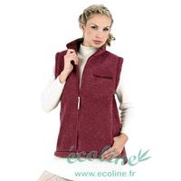 Gilet sans manches unisexe poches zippées - Pure laine mérinos