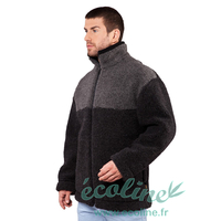 Veste bi-colore - Pure laine mérinos
