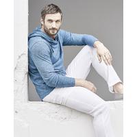 T-shirt à capuche effet contrasté - chanvre et coton bio