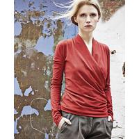"""T-shirt cache-coeur """"Scarlett"""" - chanvre et coton bio"""