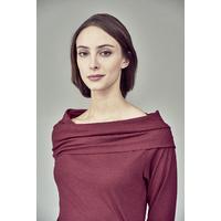 T-shirt col Carmen - chanvre et coton bio