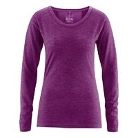 """T-shirt décolleté manches longues """"Melinda"""" - chanvre et coton bio"""