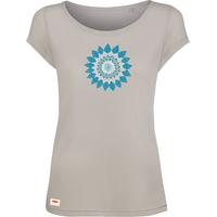 """T-shirt col bateau avec imprimé """"Fleur Mandala"""" - Pur bois de hêtre"""