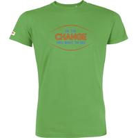 """T-shirt manches courtes avec imprimé """"Be the change"""" - coton biologique"""