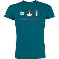 """T-shirt manches courtes avec imprimé """"Faune - Bien-être - Flore"""" - coton biologique"""