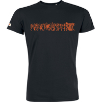 """T-shirt manches courtes avec imprimé """"Music is life"""" - coton biologique"""