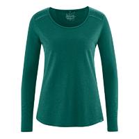 """T-shirt manches longues avec broderie épaules """"876"""" - chanvre et coton bio"""
