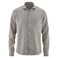 """Chemise manches longues avec poche """"044"""" - chanvre et coton bio"""