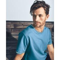 """T-shirt manches courtes bicolore """"823"""" - chanvre et coton bio"""
