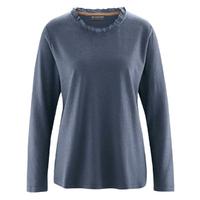 """T-shirt manches longues avec col volant """"883"""" - chanvre et coton bio"""