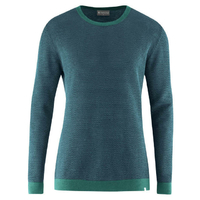 Pull fin bicolore - coton bio et chanvre