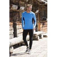 T-shirt sport homme manches longues bicolore - laine mérinos et soie