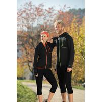 Veste sport femme zippée avec capuche - laine mérinos et soie