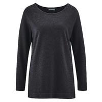 """T-shirt femme ample et long manches longues """"888"""" - chanvre et coton bio"""
