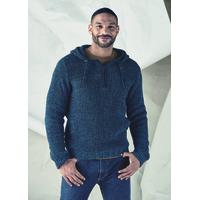 """Pull homme à capuche tricot épais """"313"""" - coton bio et chanvre"""