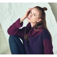"""Pullover long bicolore femme """"314"""" - coton bio et chanvre"""