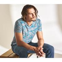 """T-shirt homme imprimé coraux """"836"""" - chanvre et coton bio"""