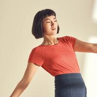 """T-shirt manches courtes raglan femme """"893"""" - chanvre et coton bio"""