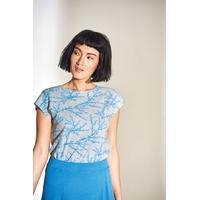 """T-shirt femme imprimé coraux """"892"""" - chanvre et coton bio"""