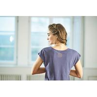"""T-shirt manches courtes avec motif """"653"""" - chanvre et coton bio"""