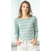 """T-shirt rayé manches 7/8 femme """"664"""" - chanvre et coton bio"""