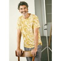 """T-shirt manches courtes imprimé Jungle homme """"840"""" - chanvre et coton bio"""