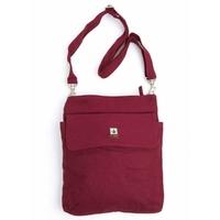 Sac d'épaule / sac bandoulière format A4 - chanvre et coton bio