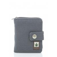 Portefeuille et porte-monnaie compact avec zip - chanvre et coton bio
