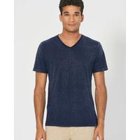 """T-shirt col V homme """"842"""" - chanvre et coton bio"""