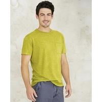 """T-shirt manches courtes rayé """"Julian"""" avec poche - chanvre et coton bio"""