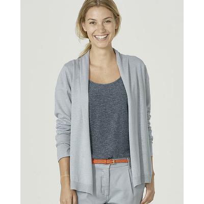 gilet femme coton bio lz357_gris platine